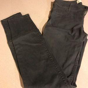 Dark gray Abercrombie skinny jeans